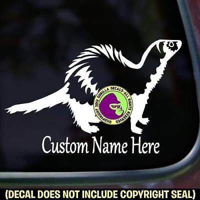 Ferret ADD CUSTOM WORDS Weasel Sign Car Window Wall Vinyl Decal Sticker