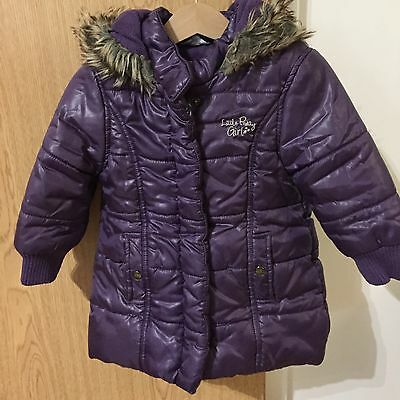 Girls Purple Puffer Jacket