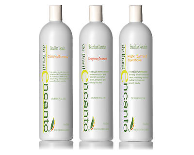 ENCANTO Brazilian Keratin Hair Straightening BLOWOUT HAIR KIT 3x236ml