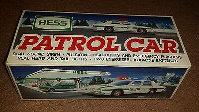 1993 Hess Toy Truck Patrol Car Police Cruiser New In Box Collectible