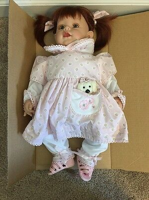 Adora Doll Auburn Red Hair Pigtails Green Eyes Pink Outfit Vinyl 20 Inch Doll