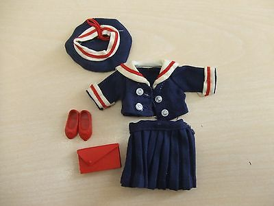 vntg Penny Brite Anchors Away sailor suit hat red shoes