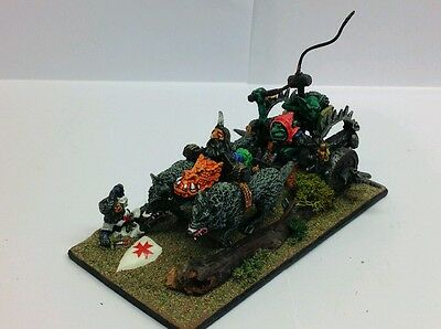OOP Oldhammer Goblin battle chariot bb GW very well painted Warhammer