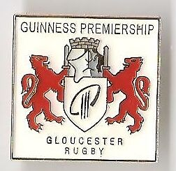 Guinness Pin Badge Guinness Rugby Premiership Gloucester Rugby