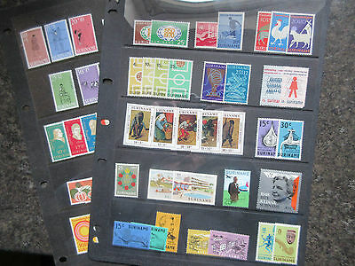 Suriname Small Lot of Mostly MNH Stamps.