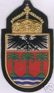 German Prussia Imperial Royal Kaiser Crown Colony Wappen Arms Crest Somoa Patch