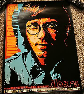 The Doors Poster Ray Manzarek Tribute Concert Los Angeles 2016 Rare  Robbie John