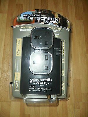Monster Hts 200 Flatscreen Home Theatre Powercenter Clean Power Surge Protector