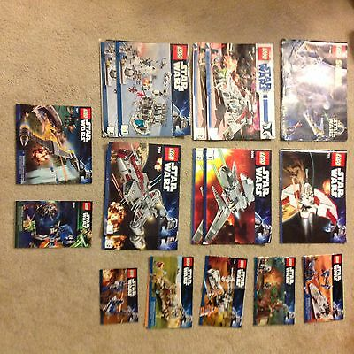 Lego Star Wars 13 Sets of Instructions ONLY--LOT