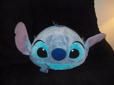 "Large Face Disney Store Lilo & Stitch 14"" Backpack Bag Soft Toy Plush"