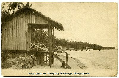 SINGAPORE, Old Postcard of TANJONG KATONG, Central Singapore, pre-development