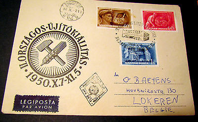 Hungary Magyar Posta First Day Cover 1950