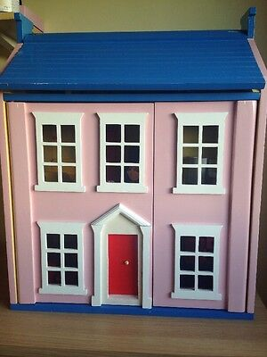 Girl's Wooden Dolls Toy House With Furniture And People Collection Blackburn