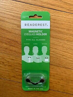 ReadeREST - Stainless Steel, magnetic eyeglass holder, new and factory sealed