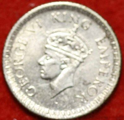 1942 India 1/4 Rupee Silver Foreign Coin Free S/H