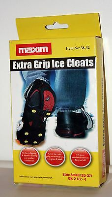 Maxim Overshoe Size Sml 2.5-4 Snow And Ice Grips 6 Spikes Stud Cleats Gripper