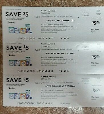 Similac go & grow coupons $15 worth exp 1/18/17