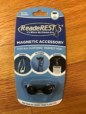 ReadeREST - Black Shades, magnetic eyeglass holder, new and factory sealed