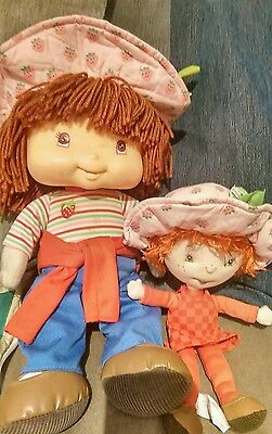 strawberry shortcake doll talking and smaller soft toy