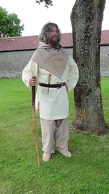 Complete suit, Tunic trousers and hood, Viking, Medieval, LARP