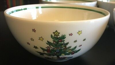 Nikko Happy Holidays Bowls Christmas Set of 4 All Purpose Cereal Soup Salad 5""