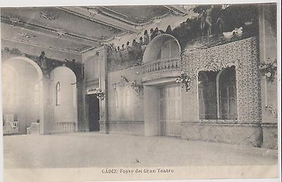 Spain Cadiz Teatro Theater Foyer Bw Ppc Unposted Hauser Y Menet