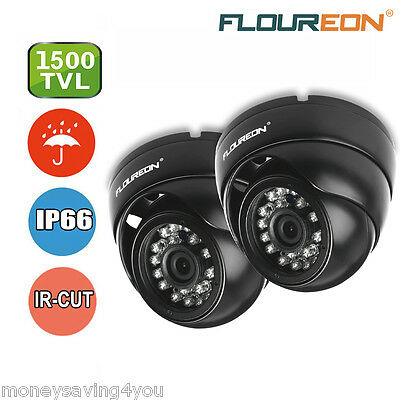 FLOUREON 1500TVL CCTV DVR Security Dome Camera IR Night Vision Indoor / Outdoor