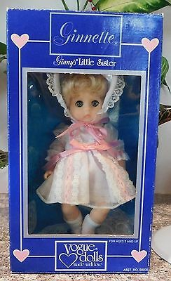 Vintage 1984 Vogue Ginnette Ginny Little Sister Doll Minty in Package MiP
