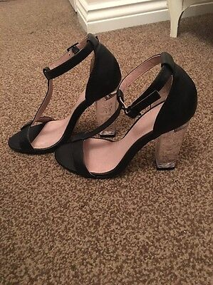 Next Black And Perspex High Heels Size 3.5