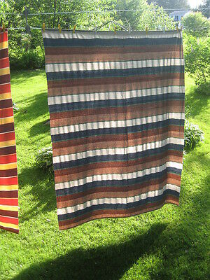 #120 vintage blanket rag hand woven catalogne cotton tread,wool material new