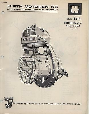 Hirth  Snowmobile & Vehicle Engine Model 56 R Spare Parts Manual (658)