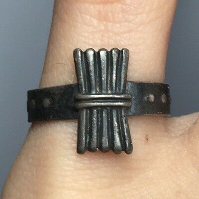 Vintage Sterling Silver Campfire Girls Wohelo Tiny Ring Size 4.5 M65
