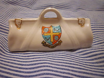 Cyclone China Model of  Cricketers Bag - Crest of GREAT MALVERN