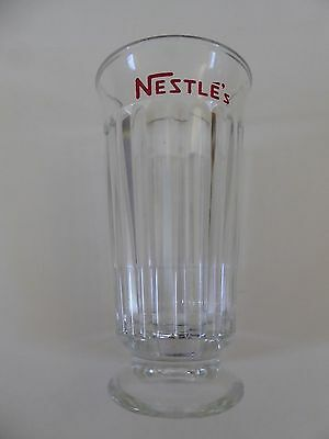 Nestle's  Vintage Old Fashioned Footed Soda Fountain Glass