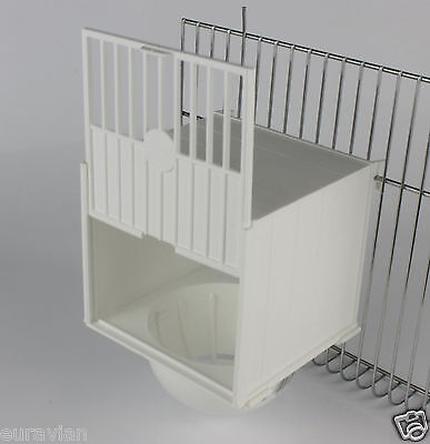PLASTIC BREEDING NEST PAN/BOX CANARY FINCH BRITISH Hooks on Cage Front