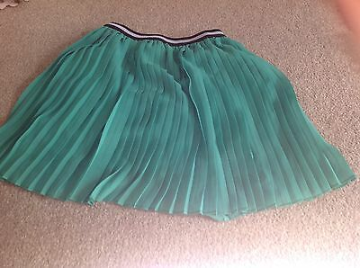 TU Green Pleated Skirt, Party, Age 7 8