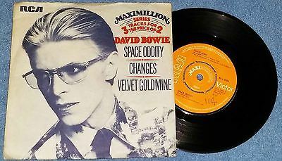 """David Bowie – Space Oddity EP - 7"""" Record VG/VG UK 1975 Rock Glam Pop"""