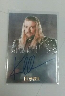 TOPPS Lord of the Rings Eomer Card Signed