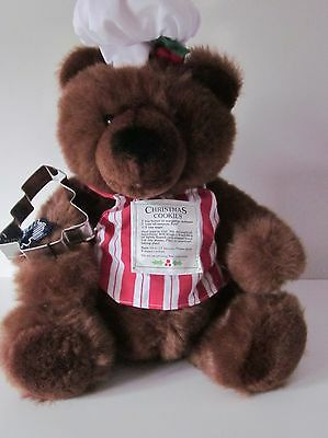 Applause Christmas Cookie Bear w/Tag & Cookie Cutter