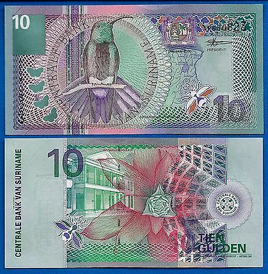 Suriname P-147 Ten Gulden Year 2000 Uncirculated FREE SHIPPING