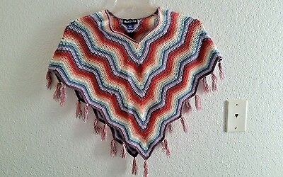 Limited Too Girls Crochet Poncho Sweater Size M (12)