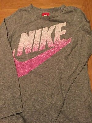 Girls LS Nike T Shirt, Size 13-15 Years Excellent Condition
