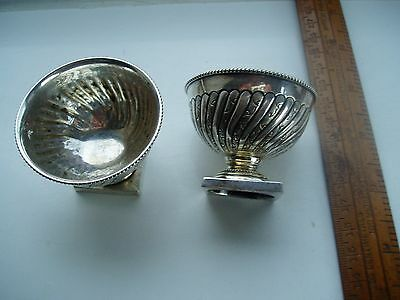 Two Ornate Silver Plated Victorian Salts