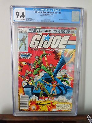 G.I. Joe A Real American Hero #1 CGC 9.4 Off White to White Pages Marvel 1982