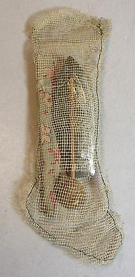 Little Antique Mesh Christmas Stocking With Toys Inside