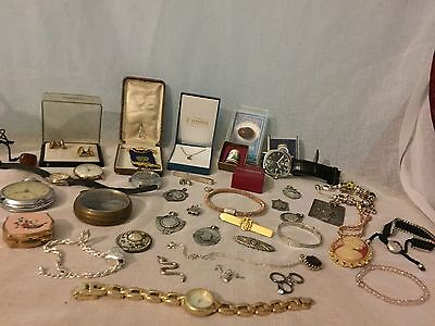 Job Lot Solid Sterling Silver 925.Antique.Modern.Fobs.Brooch.Medal.Watches fab!