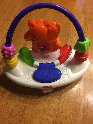 Fisher Price Deluxe Jumperoo Replacement Kangaroo Tray Toy~Music/Lights *WORKS*