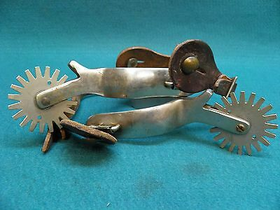 Nice Used Pair Of Stainless Steel Western Cowboy Spurs