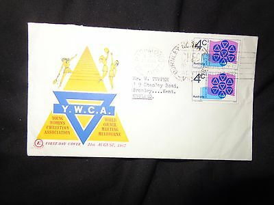 1967 Australia Post Office World Y.w.c.a.  Ywca Council First Day Cover Fdc