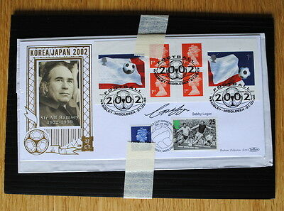 First Day Cover Benham Gold 500 Gabby Logan Signed Number 230s